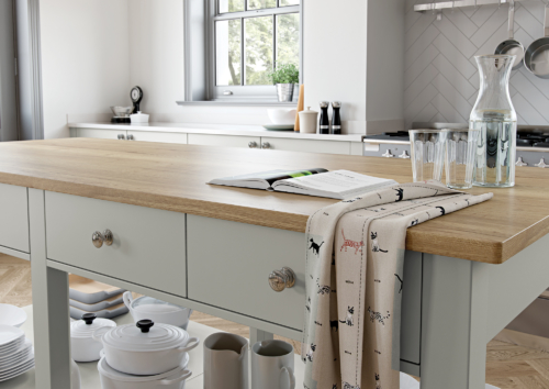 Bureigh Light Grey and Dust Grey from Riley James Kitchens Stroud
