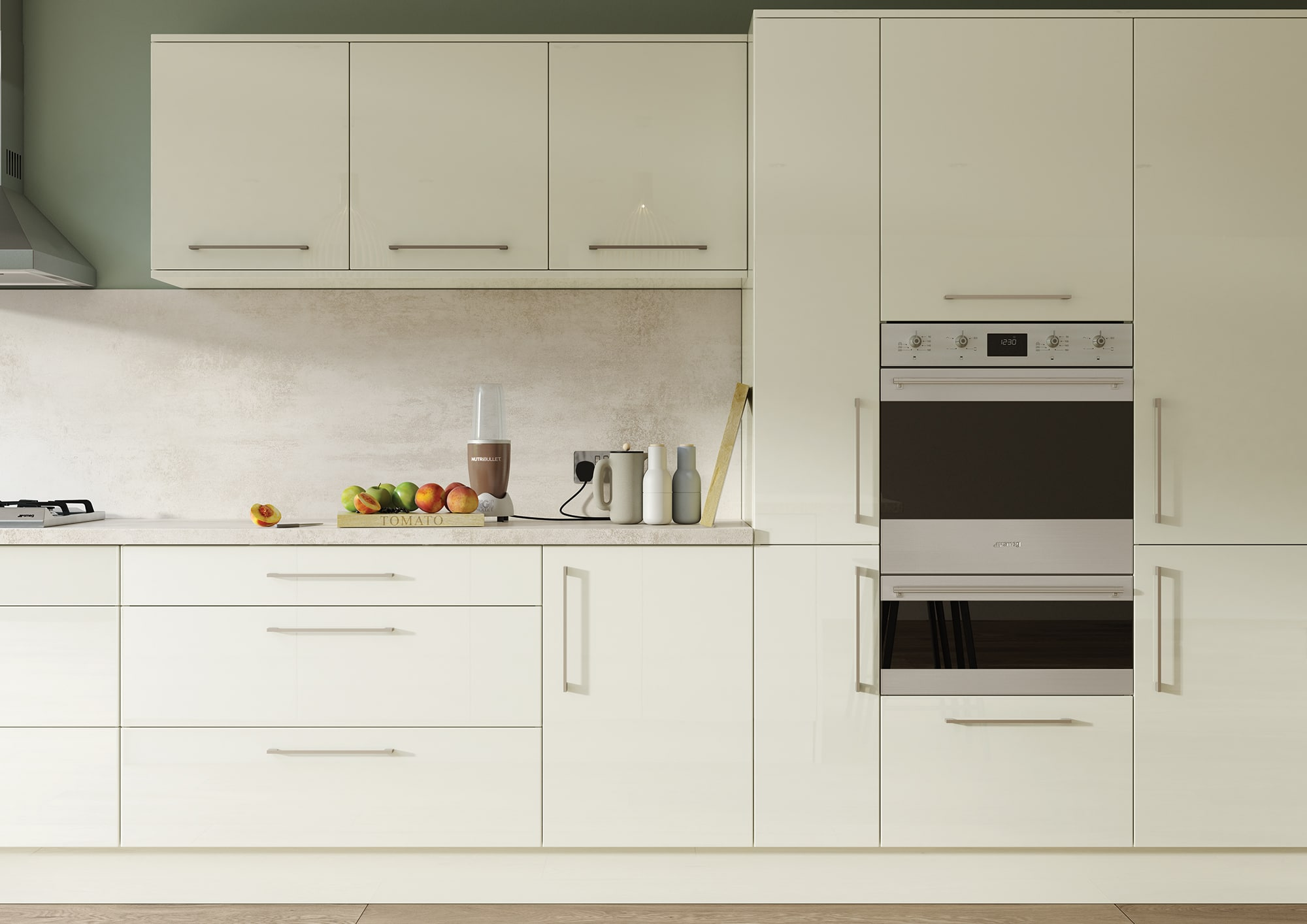Cerney Gloss Porcelain Cameo 2, from Riley James Kitchens. www.rileyjames.co.uk