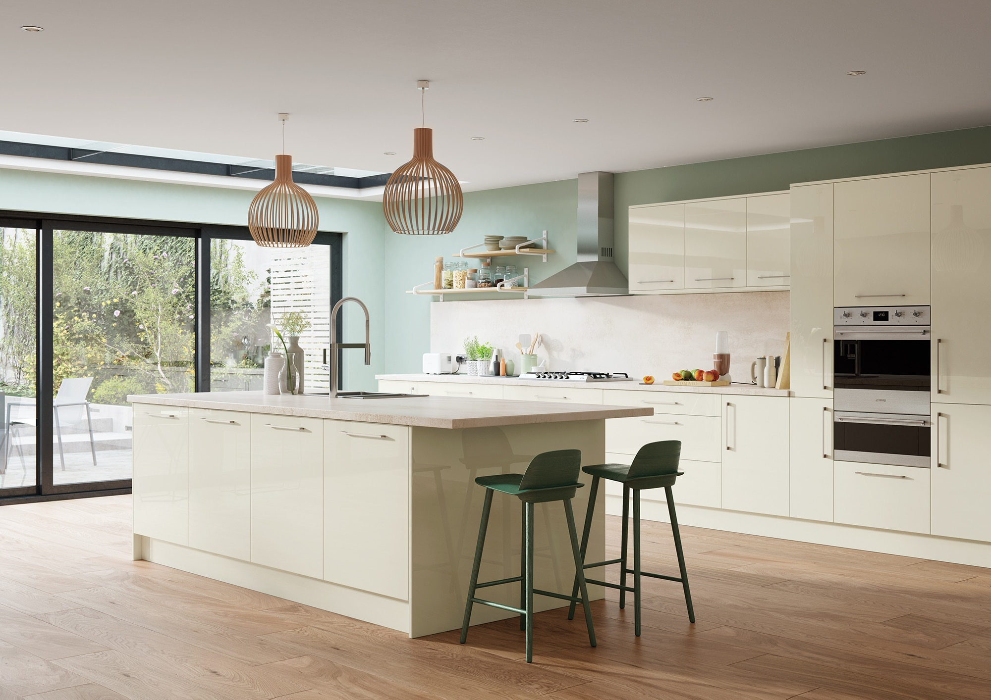Cerney Gloss Porcelain Main Shoot, from Riley James Kitchens. www.rileyjames.co.uk