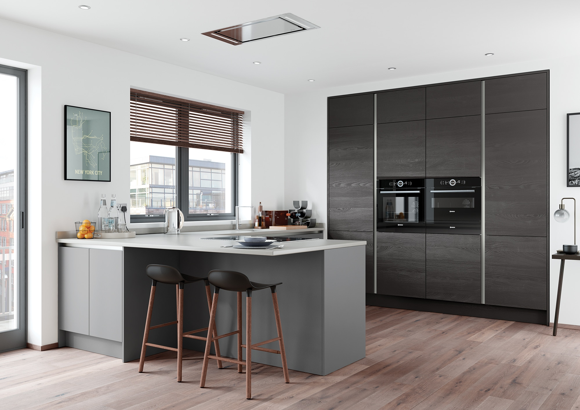 Kitchens And Kitchen Products Based In Stroud Gloucestershire - Matte grey kitchen