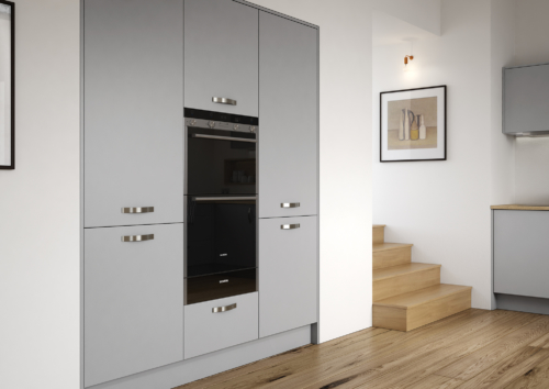 Cerney Matte Dust Grey Cameo 2, from Riley James Kitchens Stroud