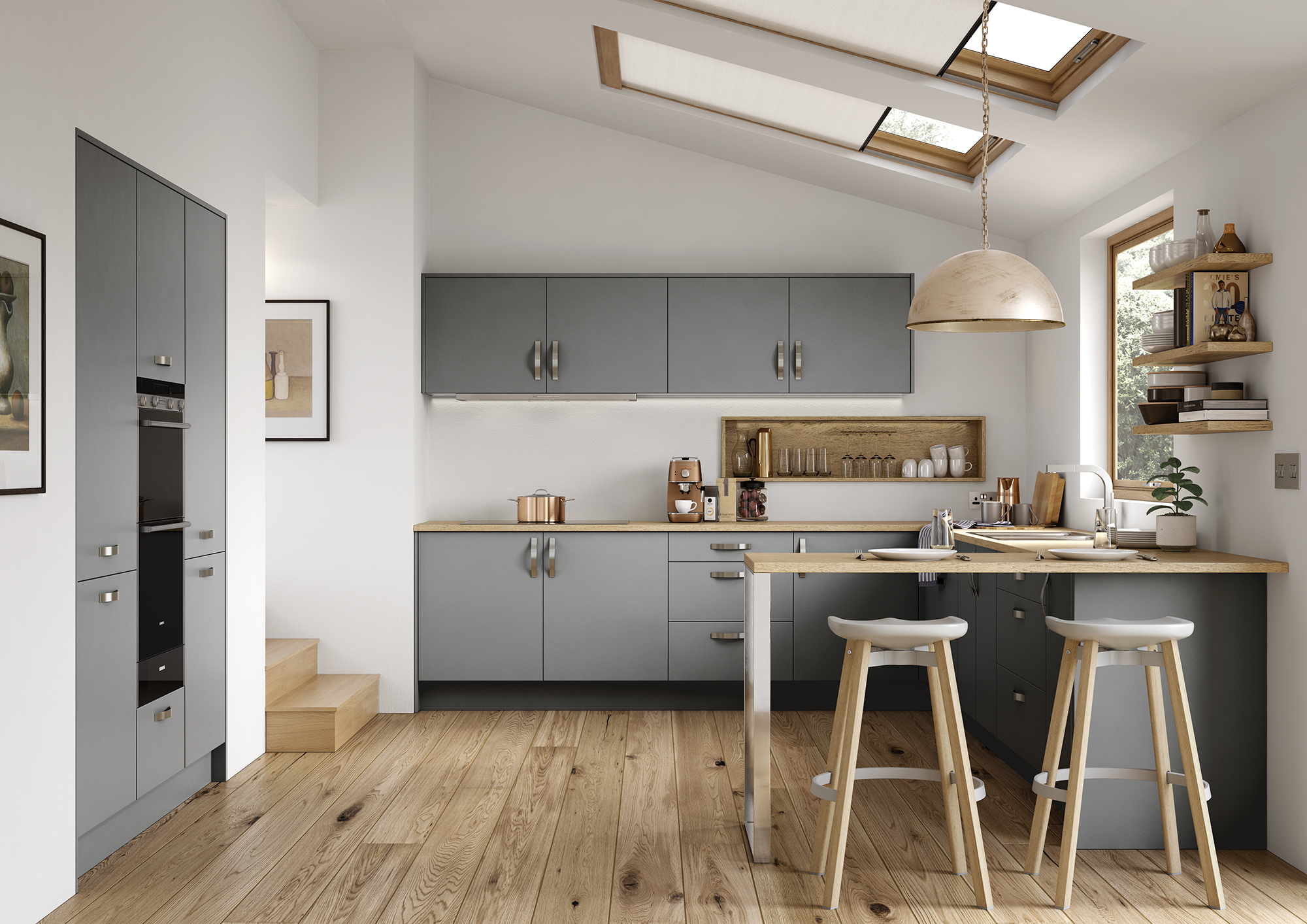 The Cerney Matte Dust Grey Main Shoot, from Riley James Kitchens Stroud