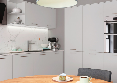 Cerney Matte Light Grey Cameo 1, from Riley James Kitchens Stroud