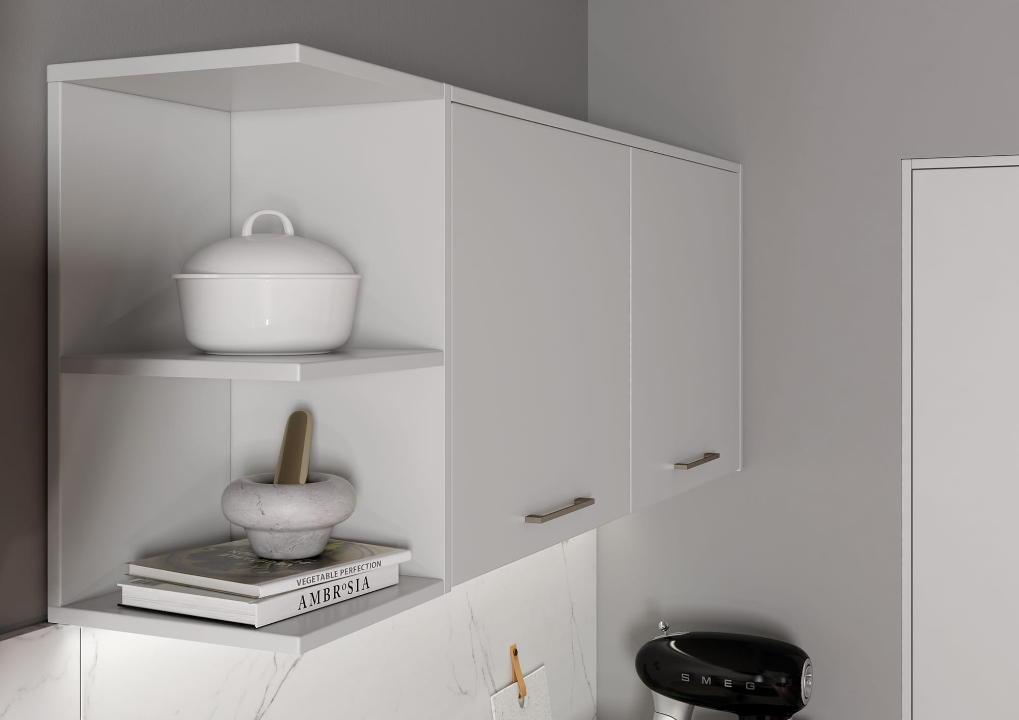 Cerney Matte Light Grey Cameo 2, from Riley James Kitchens Stroud