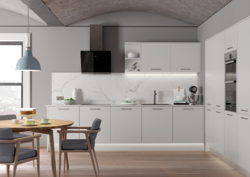 Cerney Matte Light Grey Main Shoot, from Riley James Kitchens Stroud