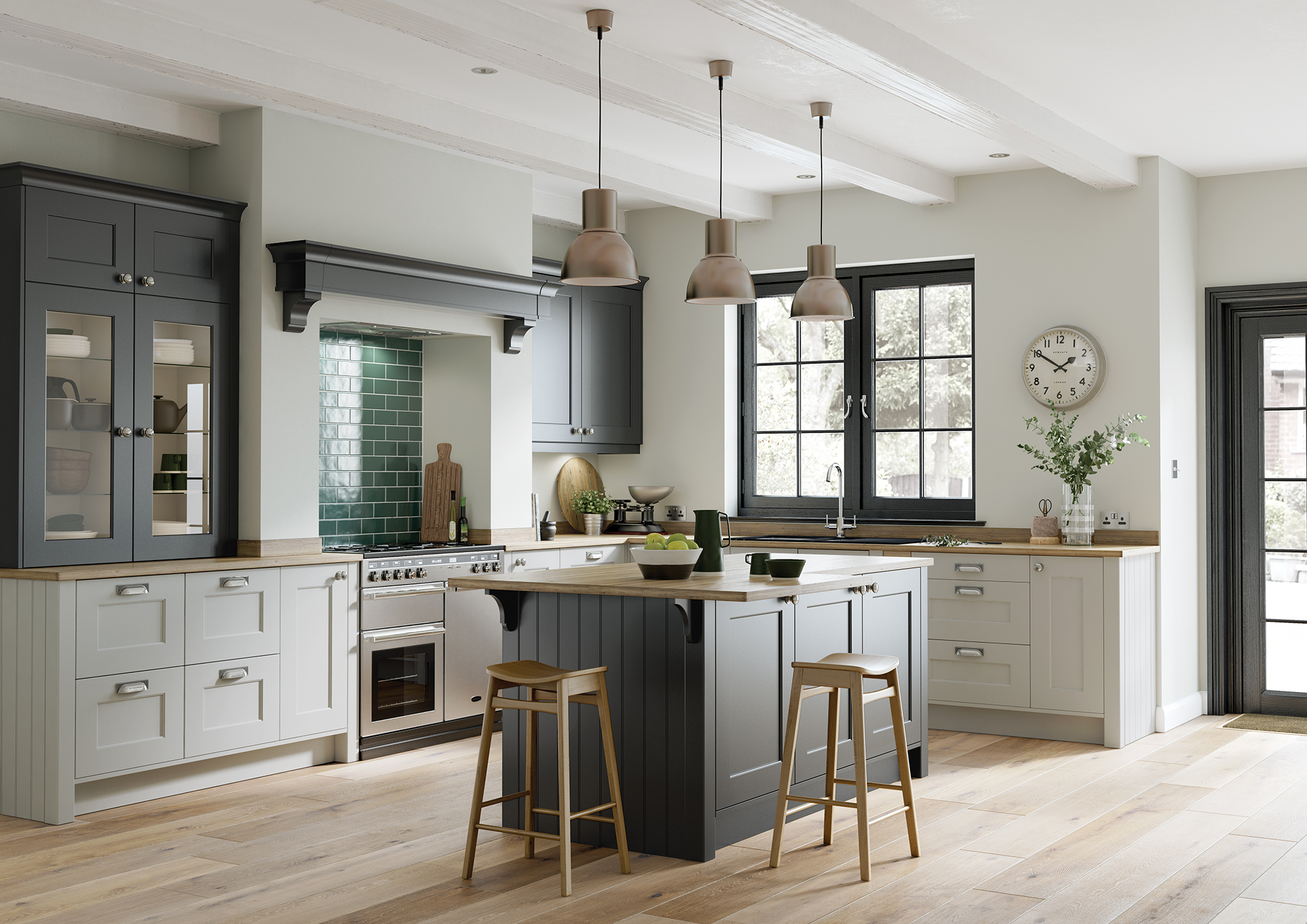 Cherington_Graphite-and-Light-Grey-Main-Shoot - from Riley James Kitchens Stroud