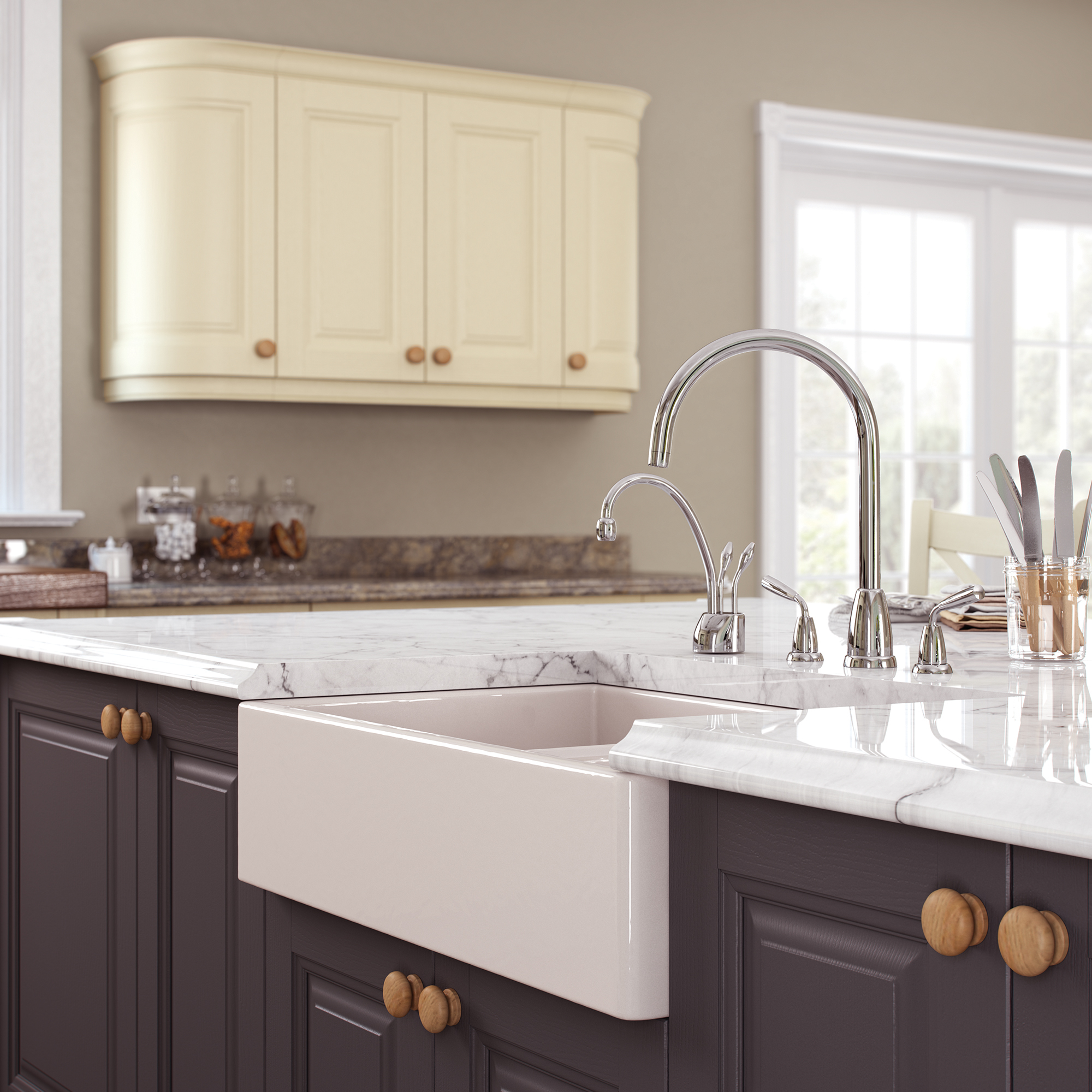 Hampton-Painted-Cameo-Sink-1 - from Riley James Kitchens Gloucestershire