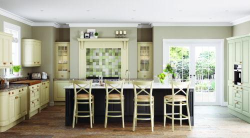 Hampton Painted Ivory and Graphite from Riley James Kitchens stroud