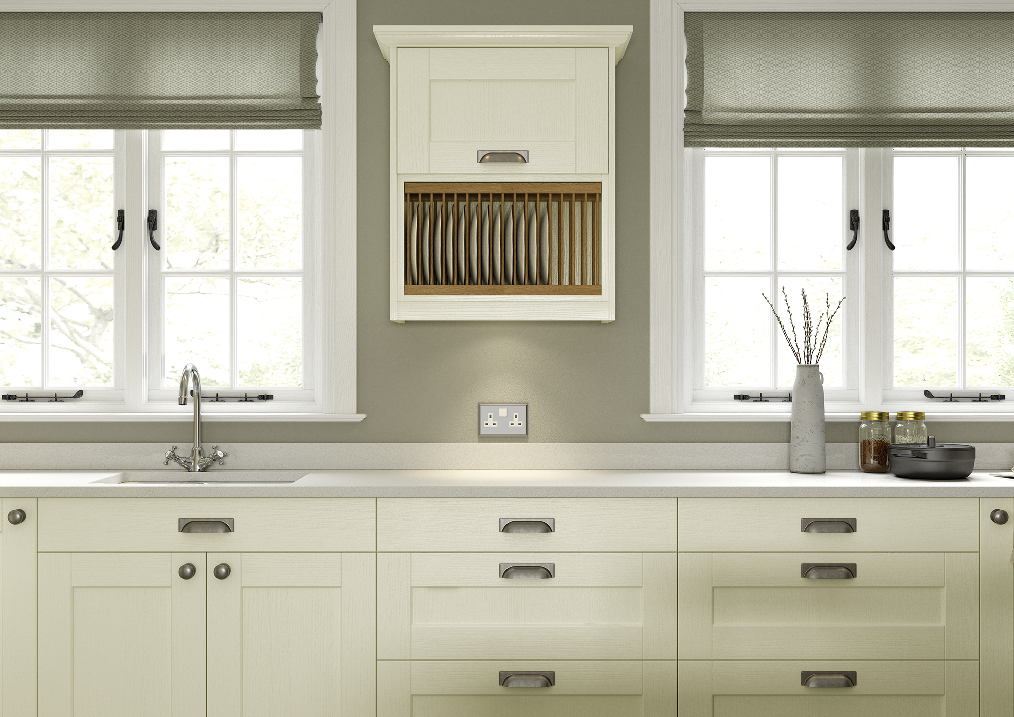 Kemble Ivory Cameo 2 from Riley James Kitchens Stroud