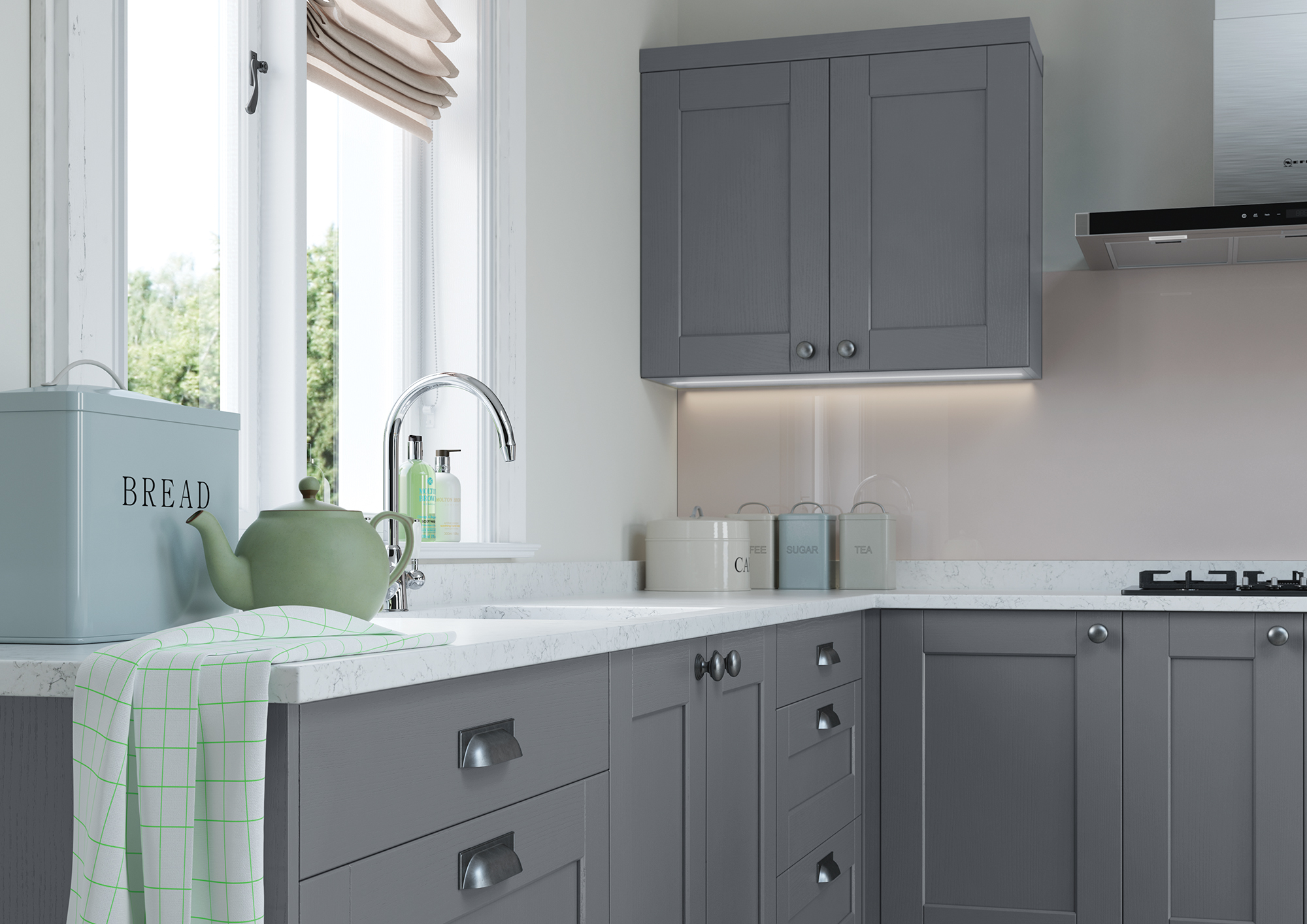 Kemble-Light-Grey-and-Dust-Grey-Cameo-1 - from Riley James Kitchens Gloucestershire