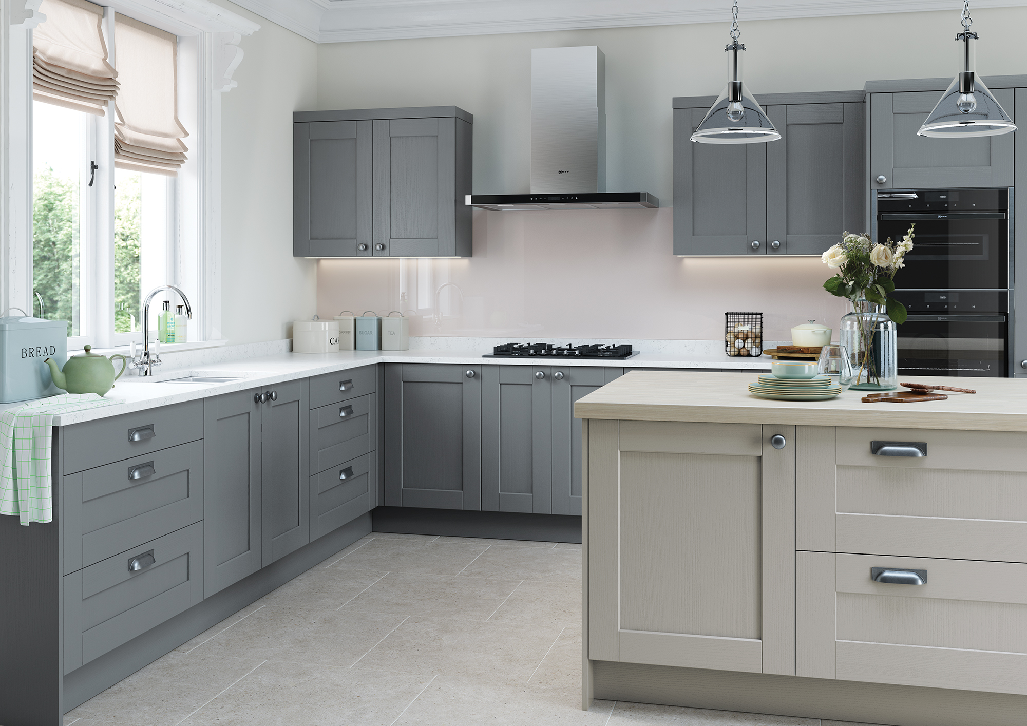 The Kemble Light Grey and Dust Grey Main Shoot - Riley James Kitchens Stroud