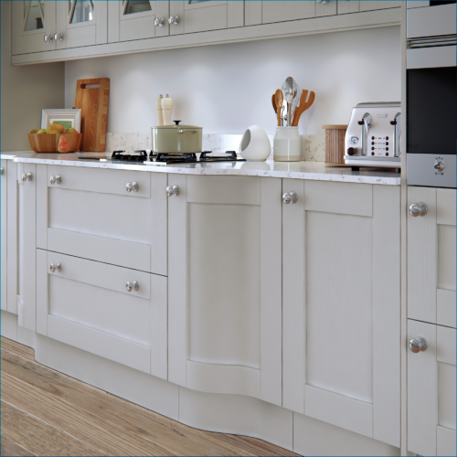 Malborough Light Grey Cameo 1 - from Riley James Kitchens Gloucestershire