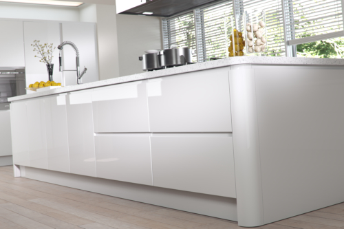Siddington Gloss White Cameo Island from Riley James Kitchens