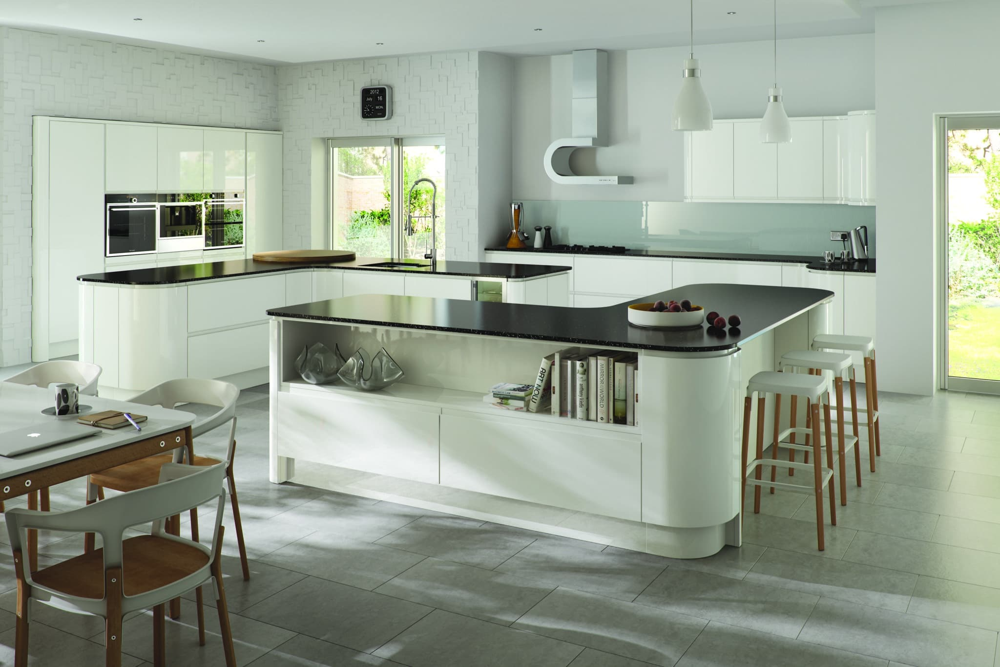 Siddington Gloss White concave from Riley James Kitchens Stroud