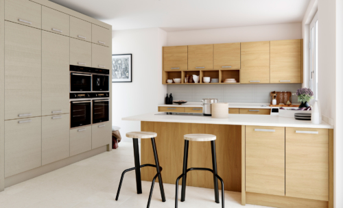 Tetbury Light Oak and painted Main - from Riley James Kitchens Stroud