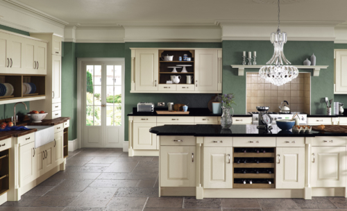 Tewkesbury classic painted ivory kitchen hero, from Riley James Kitchens Gloucestershire