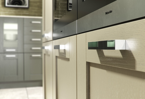 Tewkesbury shaker lava stone kitchen cabinets, from Riley James Kitchens Gloucestershire