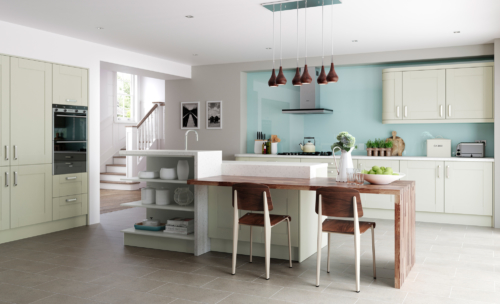 Tewkesbury shaker mussel kitchen hero, from Riley James Kitchens Gloucestershire