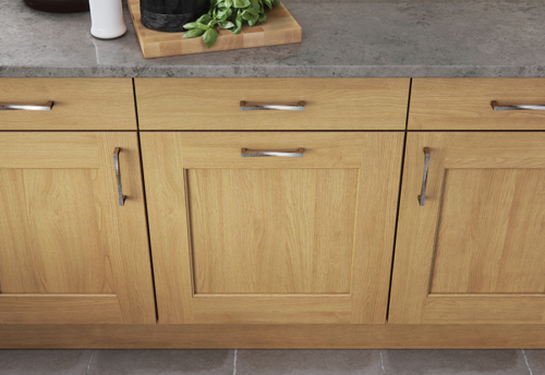 Woodchester light oak kitchen cabinets, from Riley James Kitchens Stroud