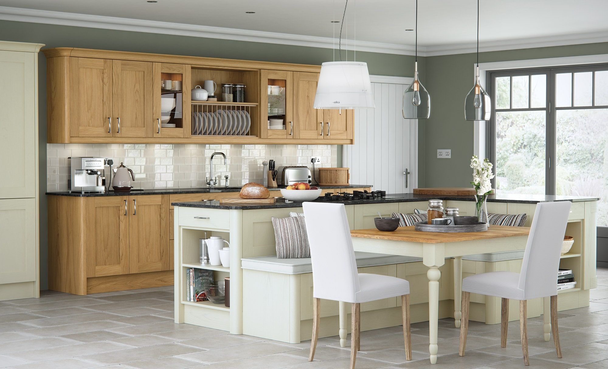 malborough-oak-painted-ivory-kitchen-hero - from Riley James Kitchens Gloucestershire
