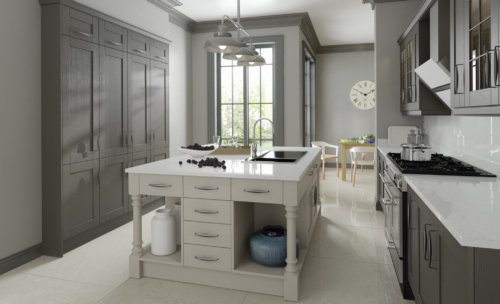 malborough-painted-lava-light-grey-kitchen-hero - from Riley James Kitchens Gloucestershire
