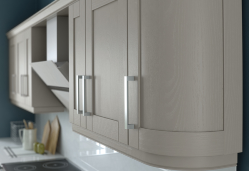 malborough-painted-stone-kitchen-curved-cabinets - from Riley James Kitchens Stroud
