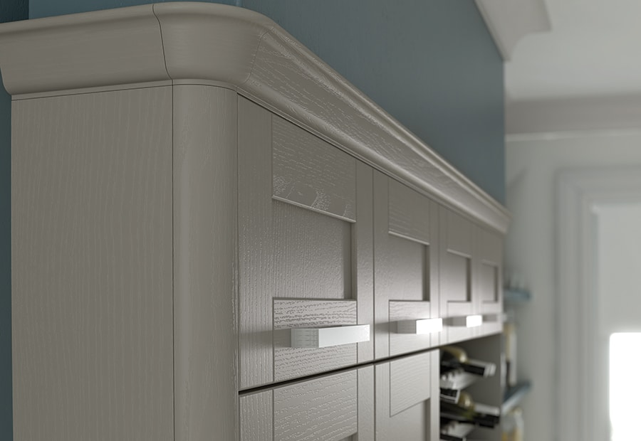 malborough-painted-stone-kitchen-quadrant-end-cornice-block - from Riley James Kitchens Stroud