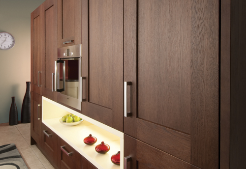 oakridge-oak-wenge-cream-kitchen-wall-unit-A - from Riley James Kitchens Gloucestershire