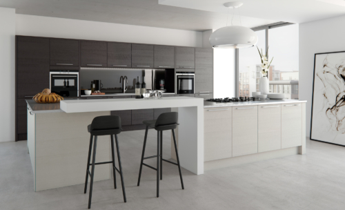 tetbury-stained-hacienda-black-painted-light-grey-kitchen-hero - from riley James Kitchens Stroud