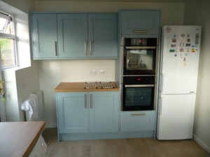 The Woodchester, Painted Pantry Blue - by Riley James Kitchens