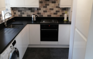 Riley James Kitchens - Siddington Gloss White Installation 2