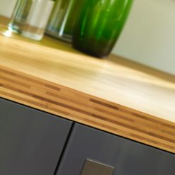 Tuscan Bamboo Worktops, available from Riley James Kitchens Gloucestershire